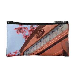 Red telephone box makeup bag