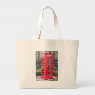 Red telephone box canvas bag