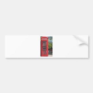 Red Telephone box Bumper Sticker