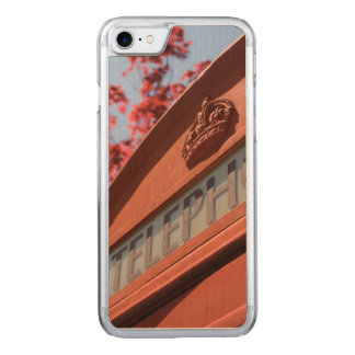 Red telephone box carved iPhone 7 case