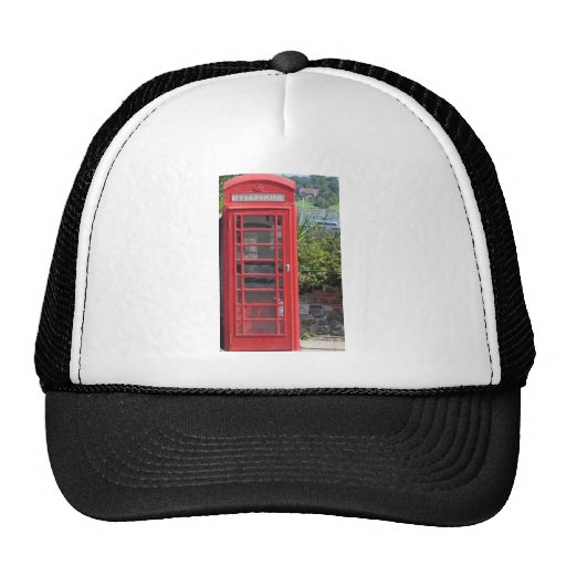Red Telephone box Mesh Hats