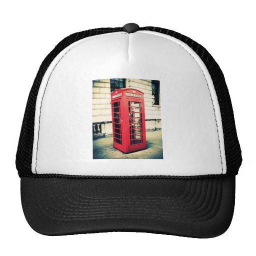 red telephone box hats