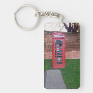 Red Telephone Box in London Keychain