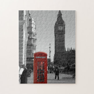 Red Telephone Box in London Puzzle