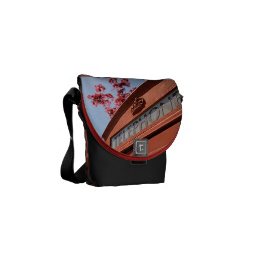 Red telephone box courier bags