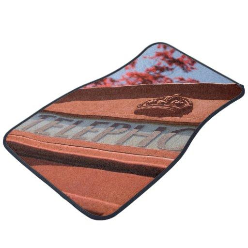 Red telephone box car mat