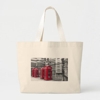 Red Telephone boxes Canvas Bags