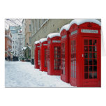 Red Telephone Boxes Greeting Cards