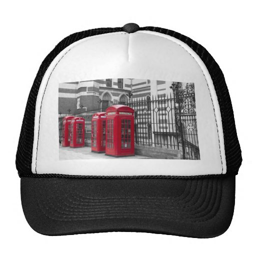 Red Telephone boxes Trucker Hat