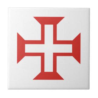 Red Templar Cross Tile