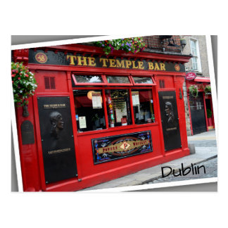 Red Temple Bar pub in Dublin, Ireland Postcard