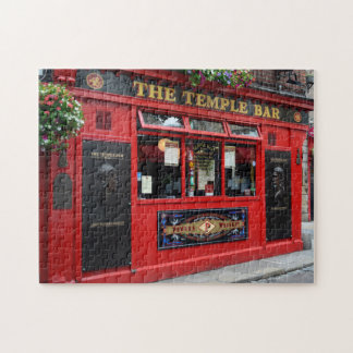 Red Temple Bar pub in Dublin puzzle