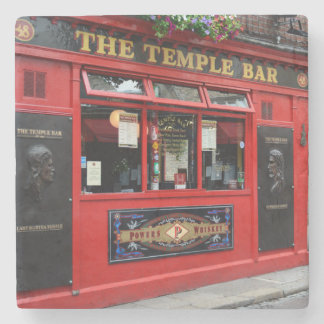 Red Temple Bar pub in Dublin stone coaster