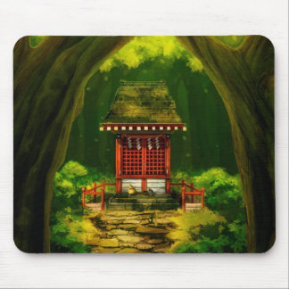 Red Temple Mousepad