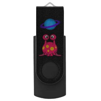 Red Tentacle Alien Swivel USB 3.0 Flash Drive