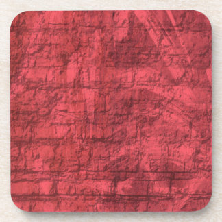 Red Textured Drink Coaster