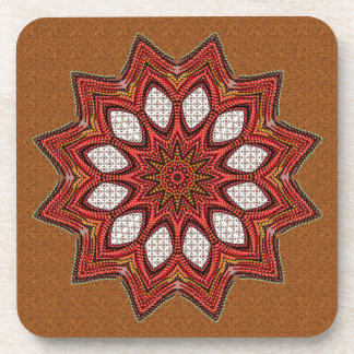 Red Textured Star Coasters