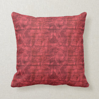 Red Textured Throw Pillow