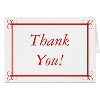 Red Thank You Card Stationery Greeting Cards
