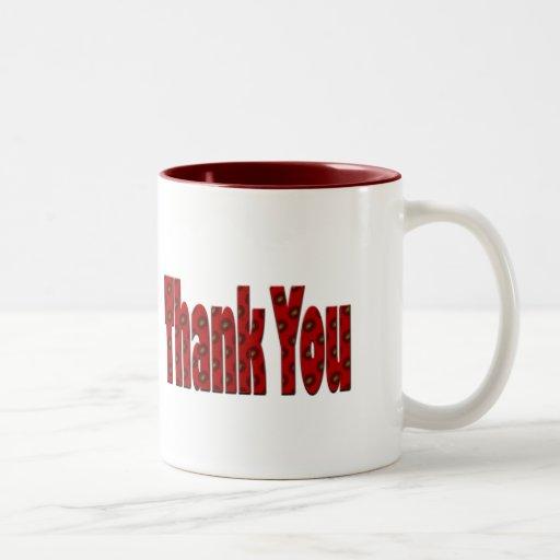 red Thank you Mug