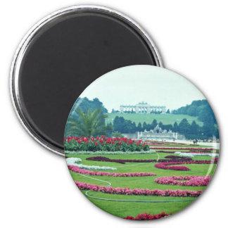 Red The Shonbrunn Castle, Vienna, Austria flowers Magnet