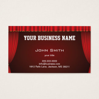 Red Theater Curtain Business Card