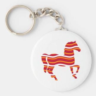 Red Thoroughbred Basic Round Button Keychain