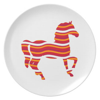 Red Thoroughbred Dinner Plates
