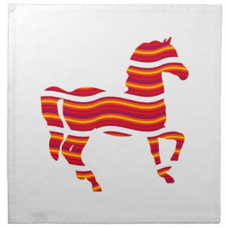 Red Thoroughbred Napkin