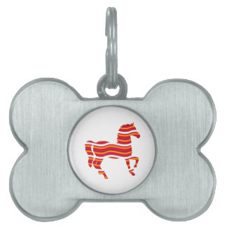 Red Thoroughbred Pet Name Tag