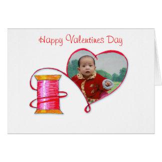 Red Thread Valentine's note card