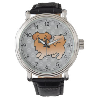 Red Tibetan Spaniel Cartoon Dog Watch
