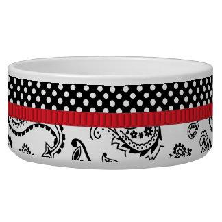 Red Tie Affair Pet Food Bowl