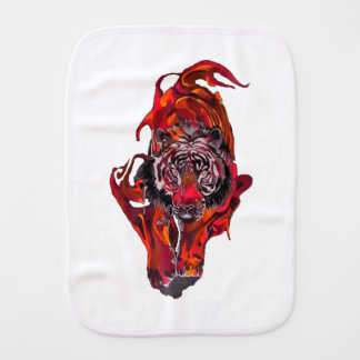 Red Tiger Burp Cloth