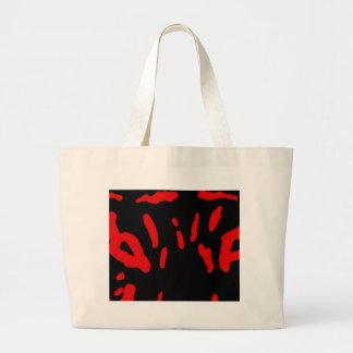red tiger eyes large tote bag