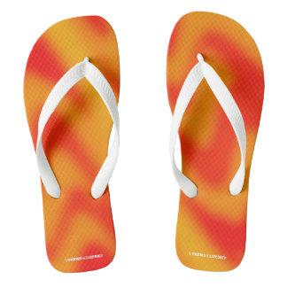 red tiger flip flops