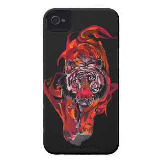 Red Tiger iPhone 4 Cover