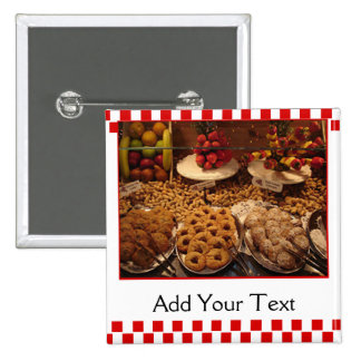 Red Tile Desserts 2 Inch Square Button