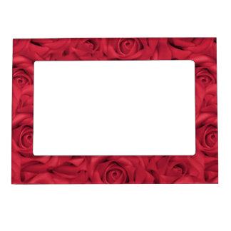 Red Tiled Roses Magnetic Frame
