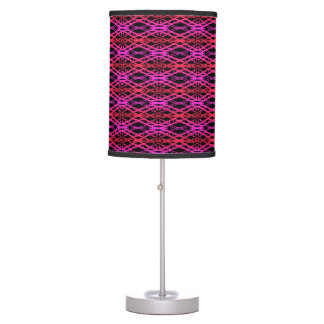 Red to Purple Lace Style Pattern Desk Lamps