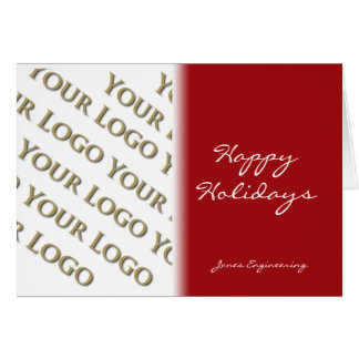 Red to White Fade Photo Logo Card