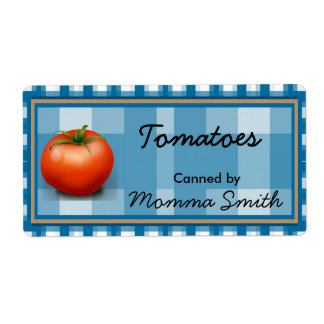 Red Tomato Custom Canning Labels