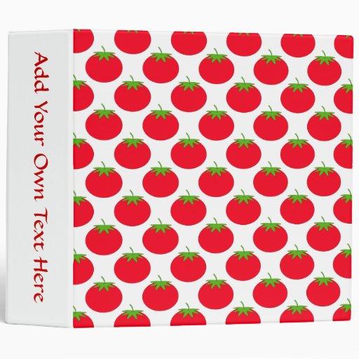 Red Tomato Pattern. 3 Ring Binder