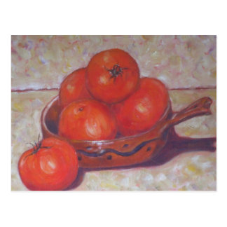 Red Tomatoes in a Dish Postcard