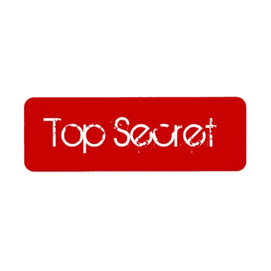 Red Top Secret Label