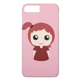 Red topknot girl iPhone 8 plus/7 plus case