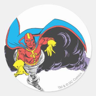 Red Tornado Emerges Round Sticker