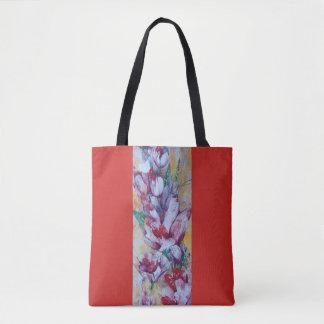 """red tote bag """" Flora"""""""