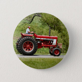 Red Tractor 2 Inch Round Button