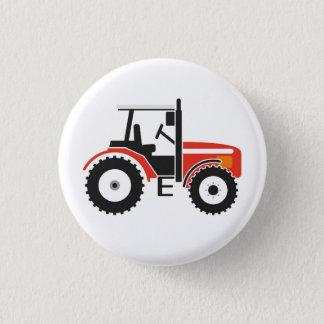 Red Tractor Badge Button